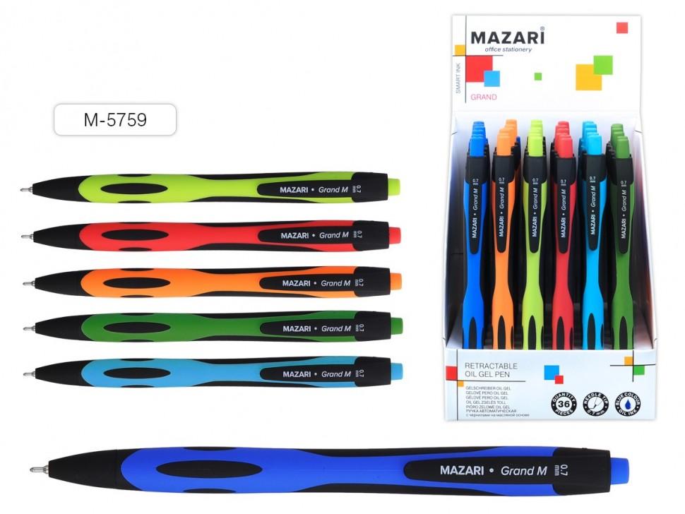 Ручка автомат,СИНЯЯ, Smart Ink: чернила на масляной основе (Индия), игольчатый пишущий узел 0.7 мм (Индия),  пластиковый корпус с покрытием